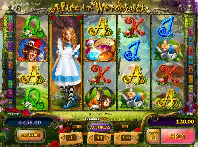 Игровой автомат Alice in Wonderslots